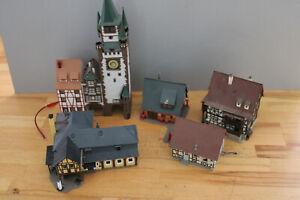 7 Gebäude Fachwerk und Altstadt Stadttor Wohnhaus Spur H0 #A799