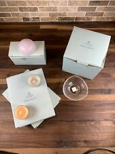 Partylite Clarity Tealight/Mini Ball Trio holders And Misc Tea light Candles