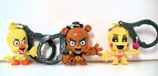 FNAF Five Nights 3pc set Chica Freddy Toy Chica Figure Collector Clip Key Chains