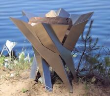 Futuristischer Design Feuerkorb 'Phoenix' Ø 65 cm Gr. XXL SvenskaV Edelstahl