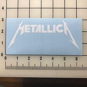 """Metallica Logo 6"""" Wide White Vinyl Decal Sticker - BOGO"""