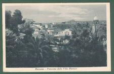 Calabria. ROSSANO, Cosenza. Panorama da Villa Martucci. Cartolina viaggiata 1937