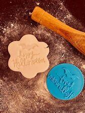 Happy Halloween Bat Cookie Fondant Embosser Stamp 3D Printed 6cm