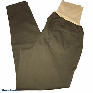 """A:Glow Maternity Jegging size 14 Olive Green Full Panel 28"""" Inseam"""