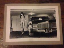 Helmut Newton Lithografie CADILLAC Sumo Hollywood 1976 Akt Erotik Nude