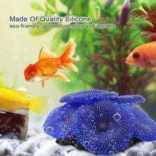 Silicone Glowing Artificial Coral Plants Fish Tank Aquarium Ornament Decoration