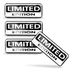 4 x LIMITED EDITION 3D DOMED STICKERS DECAL BADGE CAR PHONE LAPTOP TUNING KS 131