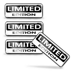 4 x 3D Gel Limited Edition Stickers Logo Domed Decal Badge Emblem Car JDM KS 131