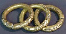Art Afrique 1940 superbe trois bracelets bronze patiné 555g8,5c bijoux anciens