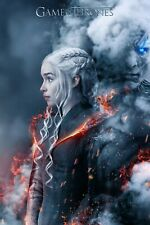 Game of Thrones Art Poster Daenerys Targaryen & Night King - 11x17 13x19