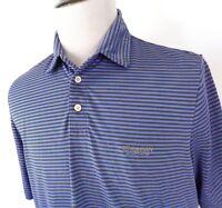 RLX Ralph Lauren Large Golf Polo Shirt Striped Multi Color SS Torreon Golf Club