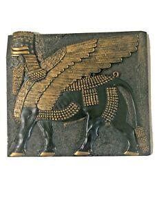 Design Toscano Assyrian Winged Bull Wall Sculpture Babylon Plaque