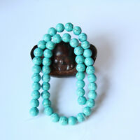 Jewelry DIY 6mm 8mm 10mm 12mm Natural Blue Turquoise Gemstone Round Beads
