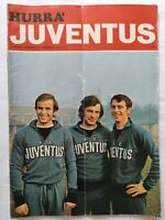 HURRA' JUVENTUS N. 2 FEBBRAIO 1972 + POSTER SAVOLDI BETTEGA LANEROSSI VICENZA