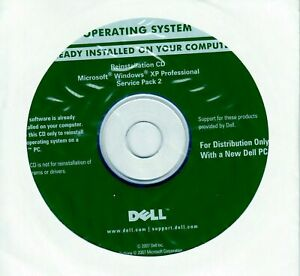 OEM Dell Windows XP Professional full version Service Pack SP2 Reinstall CD disc