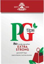PG Tips extra fuerte Pirámide Bolsitas De Té 2 X 80s