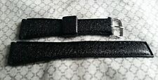 NEW vintage Stylcraft Diver's 19mm B/104-19Y waterproof black rubber watch strap