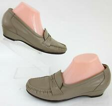 SAS 'Easier' Slip On Moccasin Shoes Mocha Leather Sz 9.5N Worn Once!