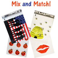 10x13 Poly Mailers, Bees, Flag, Lips, Bugs,Quality Flat Shipping Envelopes Bags!