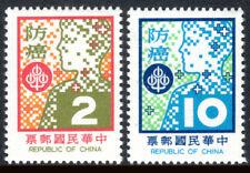 China Taiwan 2102-2103, MNH.Cancer prevention.Head & Dao cancer Fund Emblem,1978