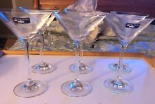 "LEONARDO MODELLA MARTINI GLASSES W/ A TWISTED STEM- 6-3/4""H -GERMANY - Set Of 6"