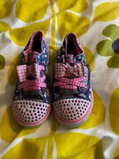 SKECHERS TWINKLE TOES GIRLS CANVAS SHOES - LIGHTS NOT WORKING - SIZE 9