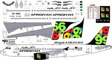 Afriqyah Airbus A-320 decals for Revell 1/144 kit