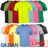 5 x Gildan MEN'S T-SHIRT COTTON PLAIN SHORT SLEEVE TOP TSHIRT SIZES S-5XL 5 PACK