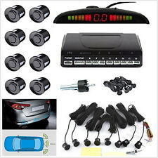 Black Car LED Display 8 Sensors Parking Reverse Radar Sound Alert Alarm System