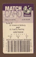 Orig.Ticket  Bundesliga  Österreich 01/02  WÜSTENROT SALZBURG  - SV PASCHING