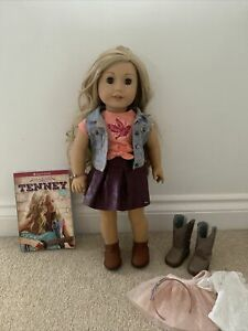 American Girl Doll Tenney Grant Doll In Box And Tenney's Spotlight Oufit