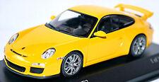 Porsche 911 GT3 997 II - 2009 speedgelb with silver Wheels 1:43 Minichamps