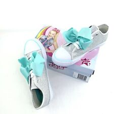 NWB JoJo Siwa Legacee Bow Silver Glitter Sneakers Girls Size 4