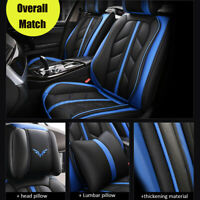 13Pcs Deluxe 5-Seats Car PU Leather Full Surround Seat Cover Cushion Mat Set US