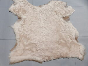 Nappa sheepskin leather hide Cream Curly Ripple Hair Karakul Astrakhan sheep