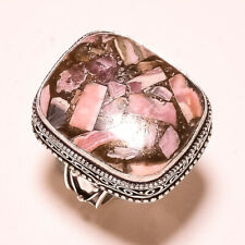 """Copper Rhodocrosite Vintage Style Handmade Fashion Jewelry Ring S.9.75"""" VR-52"""