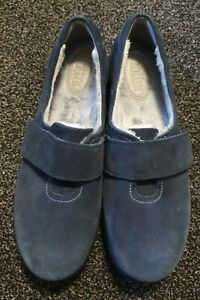 Hotter Toasty Slipper Suede Navy Blue - UK 6