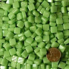 8mm Mosaic Glass Tiles - 2 Ounces About 87 Tiles - Bright Spring Pea Green