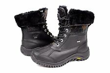 Ugg Womens Adirondack Exotic Velvet Black Color Snow Boot Size 7 US