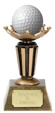 """GOLF Ball Holder Stand Trophy 3.75"""" FREE ENGRAVING New Hole in One Personalised"""