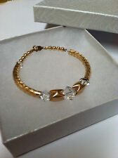 Womens Fashion Jewerly Gold Bracelet Bangle Swarovski Crystal April Birthstone