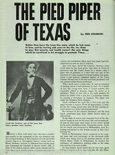 "Jacob De Cordova -""Pied Piper Of Texas"" +Boone,Coleman,Houston,Jackson,Jefferson"
