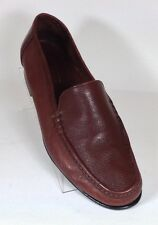 Johnston & Murphy Domani Mens Size 11M Brown Leather Casual Slip On Loafer Italy