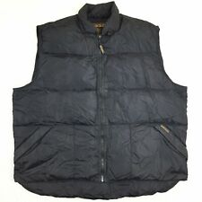 Woolrich Mens XL Black Down-Filled Puffer Vest Packable