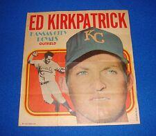Vintage Topps Baseball Insert Poster Ed Kirkpatrick Royals