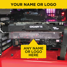 GORILLA GAMING ERECTOR Clear Customised GPU Graphics Card Support Bracket