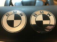 BMW  Chrome Vinyl Decals/stickers Car Door Pillar, Car Windows Etc...X 2