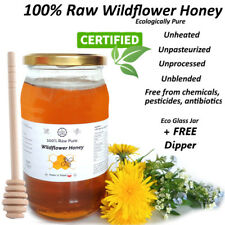100% Raw Pure WILDFLOWER HONEY - Unheated, Unpasteurized, Unprocessed 1 kg