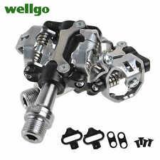 Pedali bici MTB Wellgo SPD system pedal mountain bike 290g aluminium