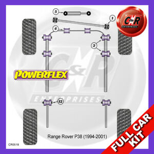 Fits Land Rover Range Rover P38 (1994-2001)  Powerflex Complete Bush Kit